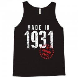 Made In 1931 All Original Part Tank Top | Artistshot