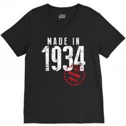 Made In 1934 All Original Part V-Neck Tee | Artistshot