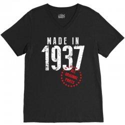 Made In 1937 All Original Part V-Neck Tee   Artistshot