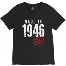 Made In 1946 All Original Parts V-Neck Tee | Artistshot