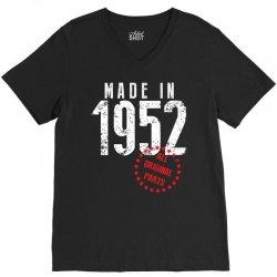 Made In 1952 All Original Parts V-Neck Tee | Artistshot