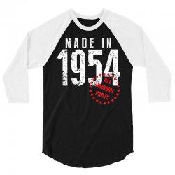 Made In 1954 All Original Parts 3/4 Sleeve Shirt | Artistshot