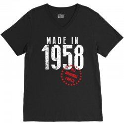 Made In 1958 All Original Parts V-Neck Tee | Artistshot
