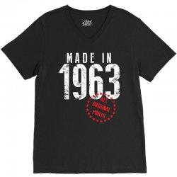 Made In 1963 All Original Parts V-Neck Tee | Artistshot
