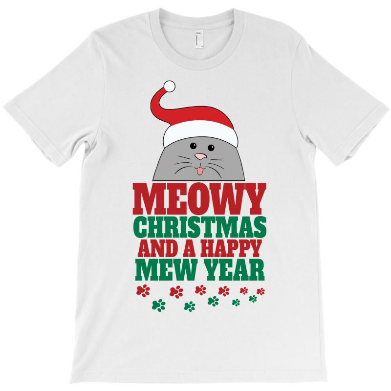 Meowy Christmas T-shirt | Artistshot