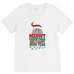 Meowy Christmas V-Neck Tee | Artistshot