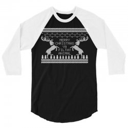 Merry Christmas Ya Filthy Animal 3/4 Sleeve Shirt | Artistshot