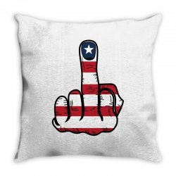 Middle Finger USA Flag Throw Pillow | Artistshot