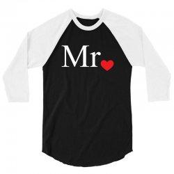 Mr with heart dot (Mr and Mrs set) 3/4 Sleeve Shirt | Artistshot