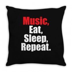 Music Eat Sleep Repeat Throw Pillow | Artistshot