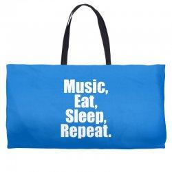 Music Eat Sleep Repeat Weekender Totes | Artistshot