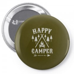 happy camping Pin-back button | Artistshot