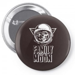 Family Trip To Moon Pin-back button | Artistshot