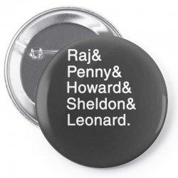 big theory list Pin-back button | Artistshot