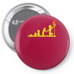 evolution lego basketball sports funny Pin-back button | Artistshot