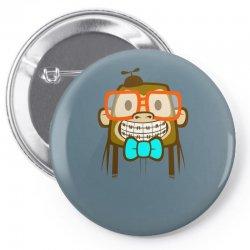 geek monkey Pin-back button | Artistshot