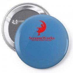 ScreamWorks Pin-back button   Artistshot