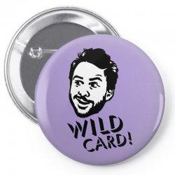 wild card Pin-back button   Artistshot