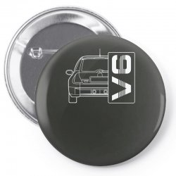 renault clio sport v6 sports car Pin-back button | Artistshot