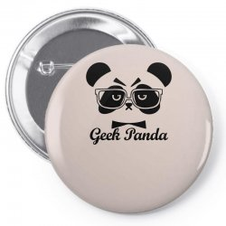 Geek Panda Pin-back button | Artistshot