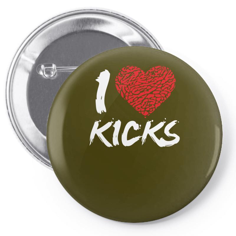 615e87060517 Custom I Love Kicks Pin-back Button By Mdk Art - Artistshot