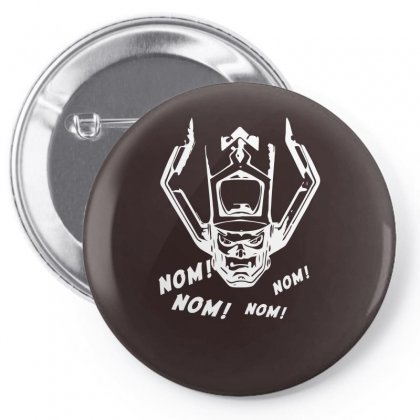 Nom Nom Nom White Pin-back Button Designed By Specstore