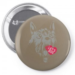 screaming wolf love you Pin-back button | Artistshot