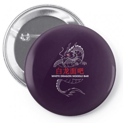White Dragon Noodle Bar Pin-back Button Designed By Specstore