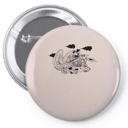 The Dragon Lady Pin-back Button Designed By Specstore