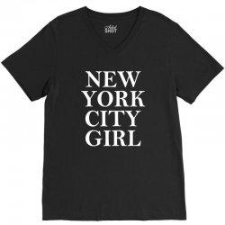 New York City Girl V-Neck Tee   Artistshot