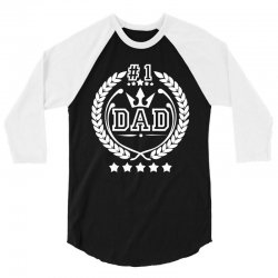 #1 Dad 3/4 Sleeve Shirt | Artistshot