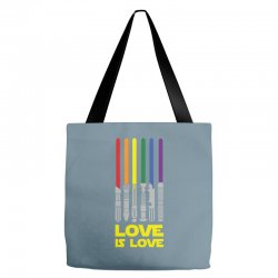 Lightsaber Rainbow - Love Is Love Tote Bags | Artistshot