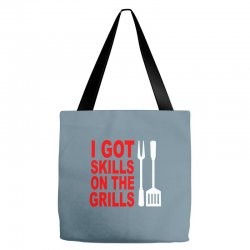 got skills on the grills apron Tote Bags | Artistshot