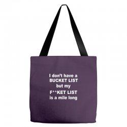 fucket list Tote Bags | Artistshot
