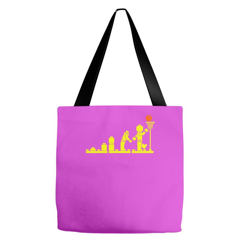 Custom Evolution Lego Basketball Sports Funny Tote Bags By Mdk Art ... 347759d717a98