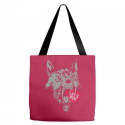 screaming wolf love you Tote Bags | Artistshot