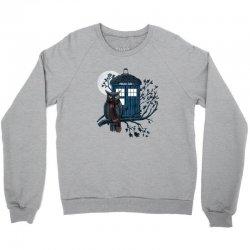 Owl And Tardis Crewneck Sweatshirt | Artistshot