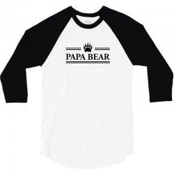 Papa Bear 3/4 Sleeve Shirt | Artistshot