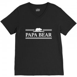 Papa Bear V-Neck Tee   Artistshot