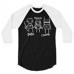 Papa Mama Chappie 3/4 Sleeve Shirt | Artistshot