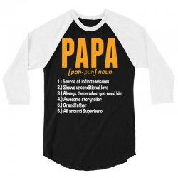 Papa Noun Definition 3/4 Sleeve Shirt | Artistshot