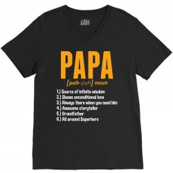 Papa Noun Definition V-Neck Tee | Artistshot