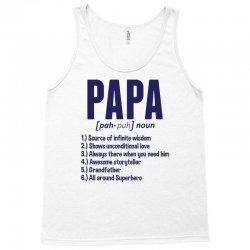Papa Noun Definition Tank Top   Artistshot
