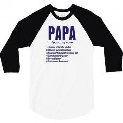 Papa Noun Definition 3/4 Sleeve Shirt   Artistshot