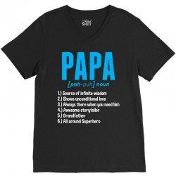 Papa Noun Definition V-Neck Tee | Artistshot