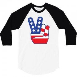 Peace Sign Hand 3/4 Sleeve Shirt | Artistshot