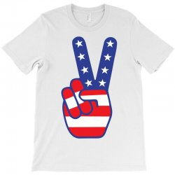 Peace Sign Hand T-Shirt | Artistshot