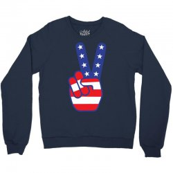 Peace Sign Hand Crewneck Sweatshirt | Artistshot
