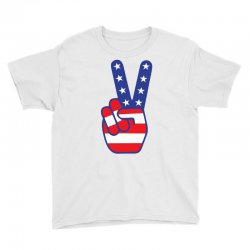 Peace Sign Hand Youth Tee Designed By Tshiart
