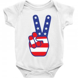 Peace Sign Hand Baby Bodysuit Designed By Tshiart